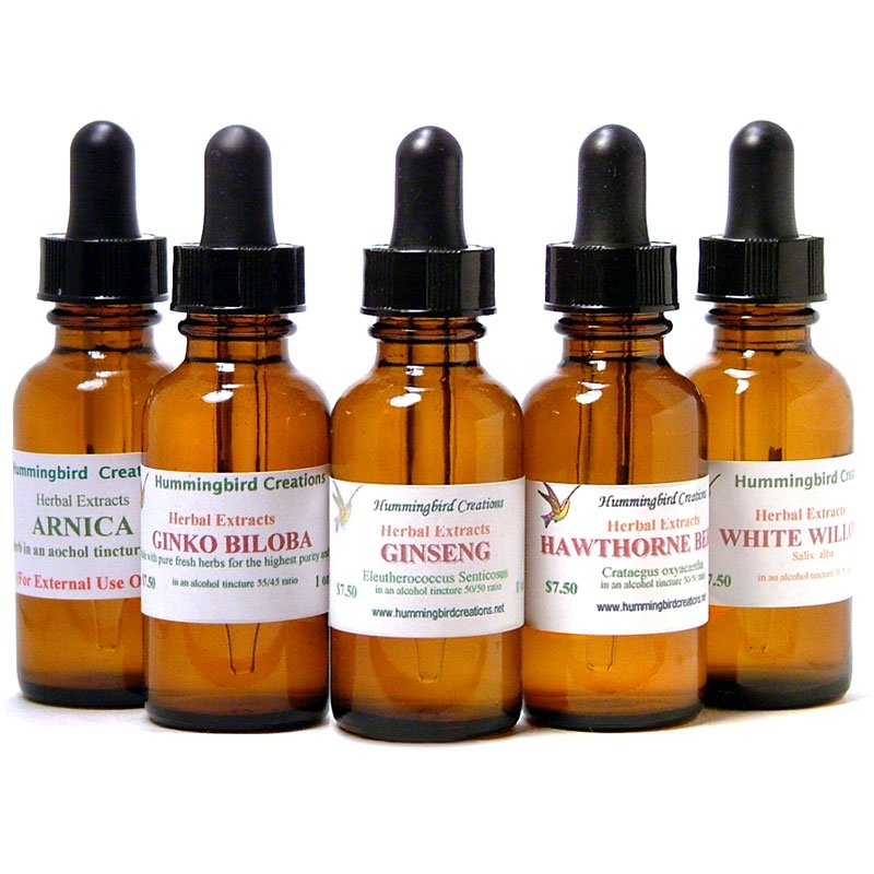 Herbal Extracts Tinctures Hummingbird Creations
