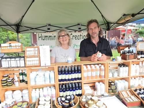 Hummingbird Creations booth at the farmer's market