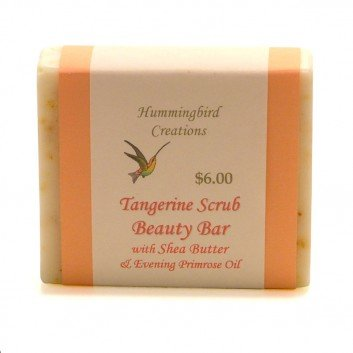 Tangerine scrub beauty bar